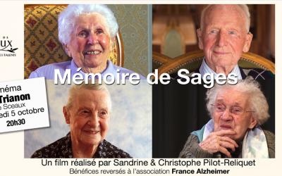 Cinéma. Projection de notre film «Mémoire de sages» le 05/10/2016